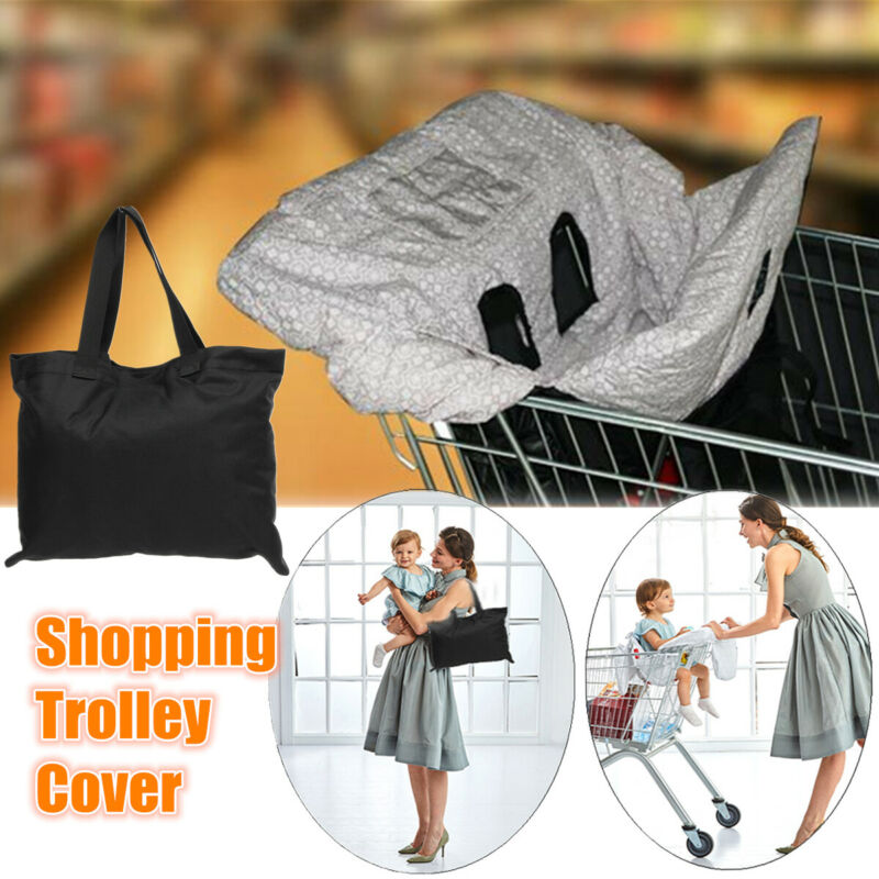 Kids Shopping Cart Cover Mat Trolley Chair Cover Grocery Toddlers Safety Harness