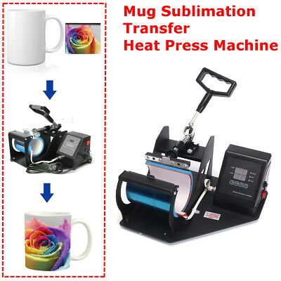Digital Display Heat Press Transfer Sublimation Machine For Cup Coffee Mug Diy