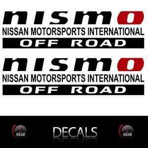 NISMO OFF ROAD Decals Stickers Nissan Titan Frontier Black Red Bedside Graphics