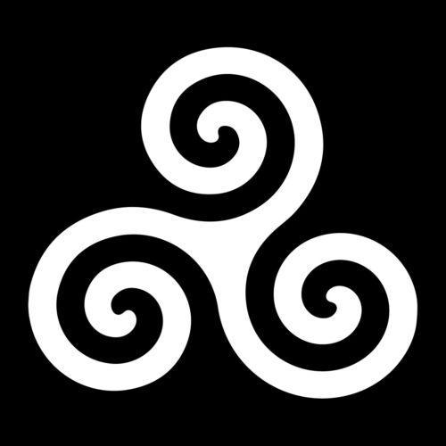 Celtic Triskelion Vinyl Decal - White 6 Inch