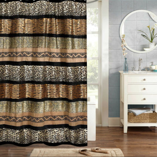 Popular Bath Gazelle Animal Print Bathroom Shower Curtain 70″x72″ Bath