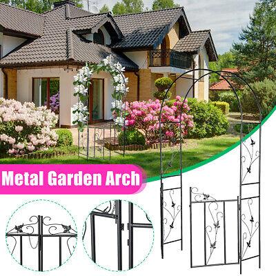 Metal Garden Arch Gate Wedding Plant Trellis Rose Climbing Archway Patio Decor