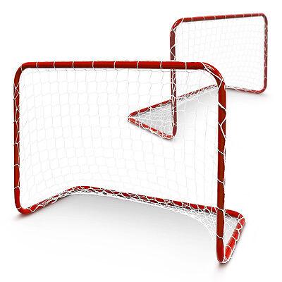 Kicker Tore für Kinder 2 Stück Set rot Fußballtore Garten Fußball Tor mini