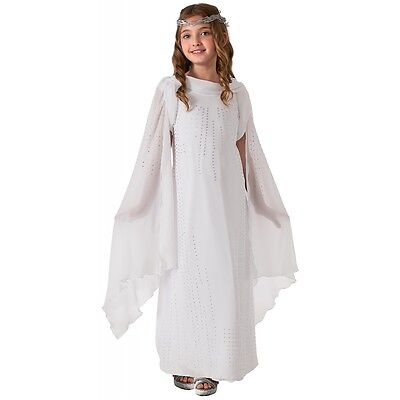 Dlx Galadriel Costume Kids The Hobbit Lord of The Rings Halloween Fancy Dress