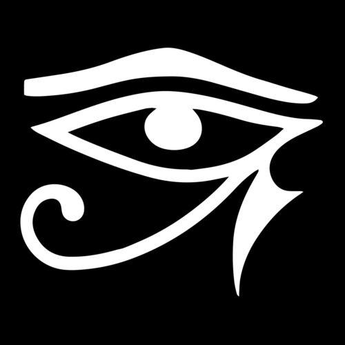Eye of Horus Vinyl Decal - White 6 Inch