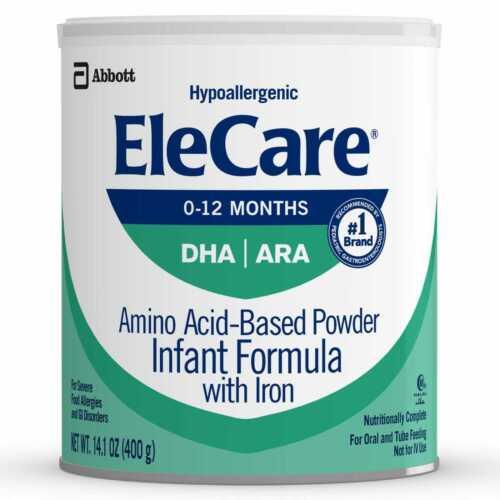 Elecare Infant DHA ARA W/ Iron 14.1 OZ 3 Cans /  Exp 01/2022