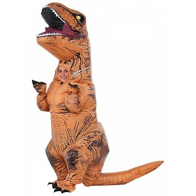 Inflatable Dinosaur Costume Kids T Rex Jurassic World Halloween Fancy Dress
