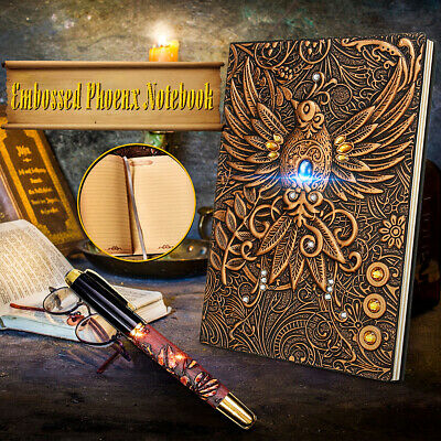 Phoenix  A5 Notebook Book Notepad Travel Journal Vintage Handcraft Binders Gift