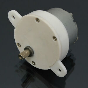 DC 12V HIGH TORQUE Cylindrical  Electric Micro Motor Gearbox 3 RPM 500TB