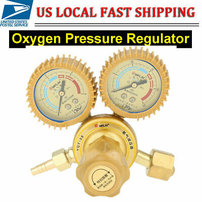Oxygen Gas Pressure Regulator Valve Gauge G58 Thread For Welder Cutting Welding