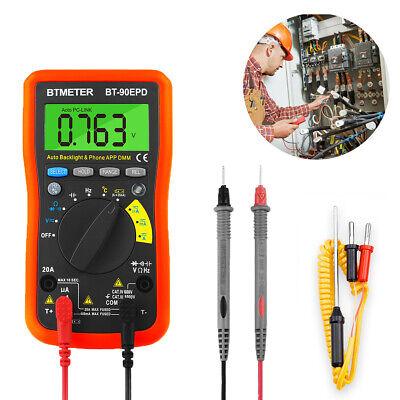 Wireless Digital Multimeter Dcac Voltmeter Meter Connect App True Rms Tester