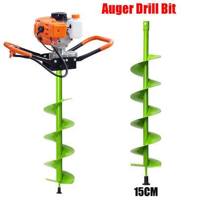 15cm Dia. Auger Bit Electric Post Hole Digging Digger For Soil Ice Fence Decks