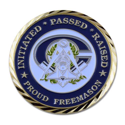 Master Mason Faith Hope Charity Proud Freemason Masonic Coin