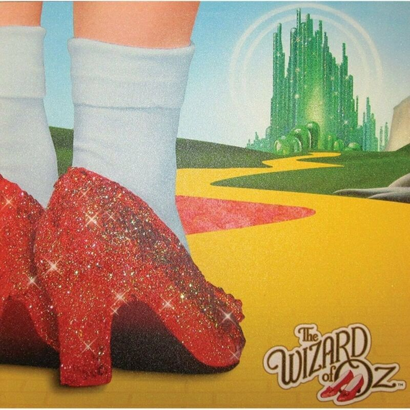 Westland Giftware Glitter Canvas Wall Art Journey to The Land of Oz (15inX15in)