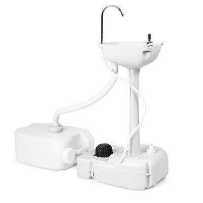 Topbuy Portable Hand Sink Water Tank Freestanding Hand Wash Station Basin Stand