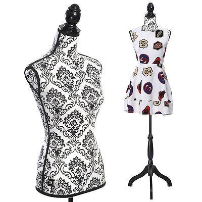 Goplus Female Mannequin Torso Dress Form Display W/ Black Tripod Stand New