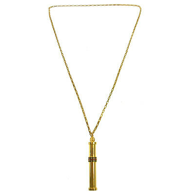 GUCCI Shelly Line Gold Chain Necklace Vintage Accessories AK38078e