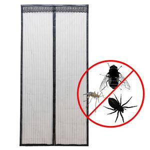 Schwarz Moskitonetz Tür Fliegengitter Magnetverschluss Fliegennetz 100x220cm