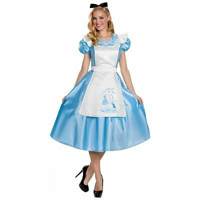 Alice In Wonderland Women's Adult Classic Blue Dress Costume