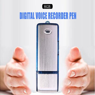 Voice Activated Mini Spy Digital Sound Audio Recorder Dictaphone 8GB MP3 Player