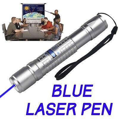 Aluminum Grade 405nm Blue Purple Laser Pointer Pen Power Visible Beam Light Hot