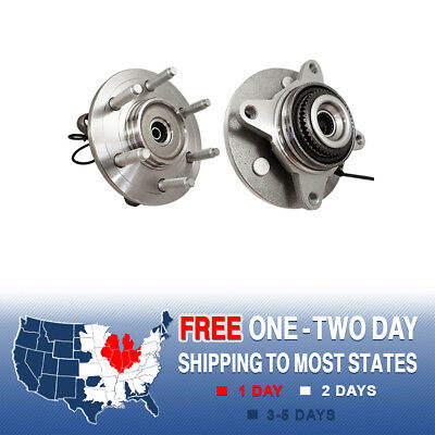 2 Front Left & Right Wheel Hub Bearing Assembly For Ford F150 Mark LT 4X4 4WD