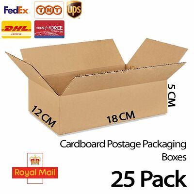 25x Cardboard Postage Postal Packaging Box RoyalMail Post Small Parcel 18 x 12CM