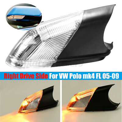 Convex Volkswagen Polo Mk.5 09-17 Left Hand N//S Non-Heated Wing Mirror Glass