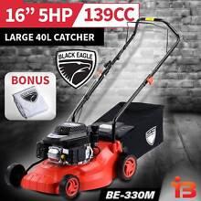 "New Black Eagle 16"" Hand Push Lawn Mower 4 stroke 139cc Fairfield East Fairfield Area Preview"