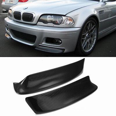 Paar Carbon Stoßstange Frontlippe Flaps Spoiler Splitter für BMW E46 M3 99-06 gebraucht kaufen  Deutschland