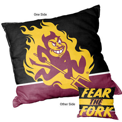 State University Square (Arizona State University Sun Devils Fear the Fork Square Couch Pillow)