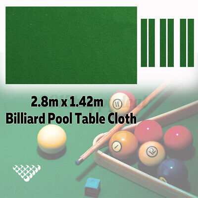 9Ft Billiard Pool Table Cloth Felt with Cushion Cloth Strip Nylon 280cm x 142cm