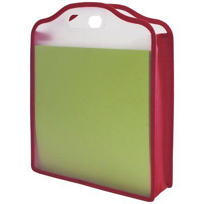 Expanding Document Organizer Bag Portable Paper File Folder Storage Folio Holder