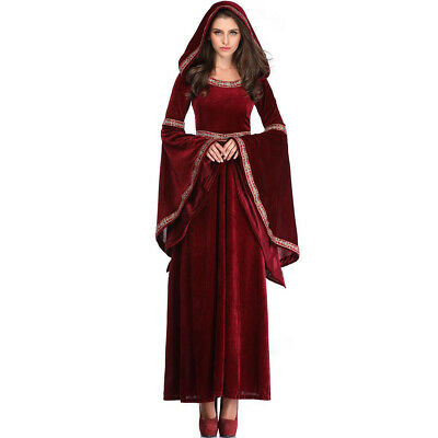 Scary Halloween Costumes For Womens 2019 (2019 Womens Halloween Scary Wine Witch Vampire Costume Medieval Victorian)