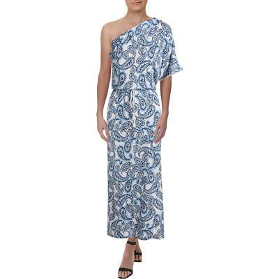Lauren Ralph Lauren Women's Paisley Print One Shoulder Blouson Maxi Dress