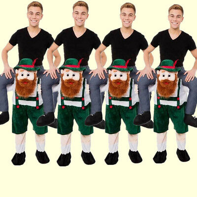Bavarian Beer Guy Mascot Carry shoulder Ride on Me Costume Halloween Dress - Guys Hot Halloween Costumes
