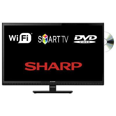 "Sharp LC-24DHG6001K 24"" Smart LED TV DVD Combi WiFi HD Ready Freeview HD HDMI"