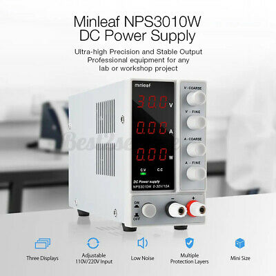 Minleaf Nps3010w Variable Digital Adjustable Dc Power Supply 0-30v 0-10a