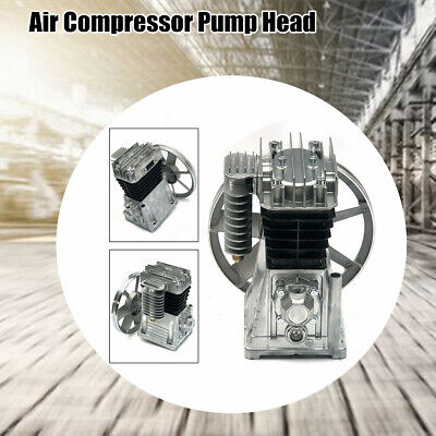 Air Compressor Pump Head 3hp Piston Style Cylinder Oil Lubricated With Silencer