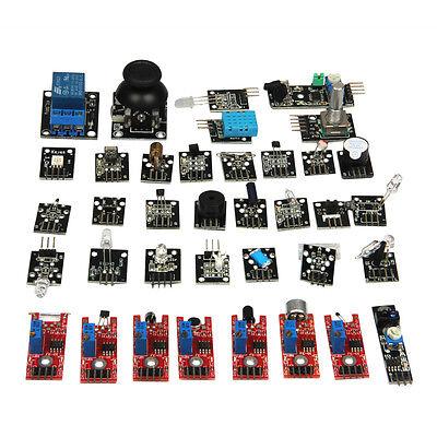 Ultimate 37 In 1 Sensor Modules Kit For Arduino Mcu Education User New