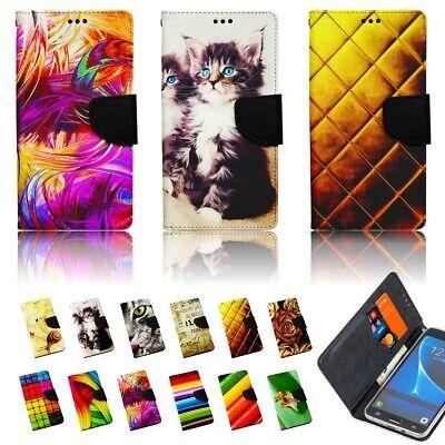 Handy Tasche für LG Flip Cover Case Schutz Hülle Etui Wallet Motiv FARBEN Farbe Flip Case