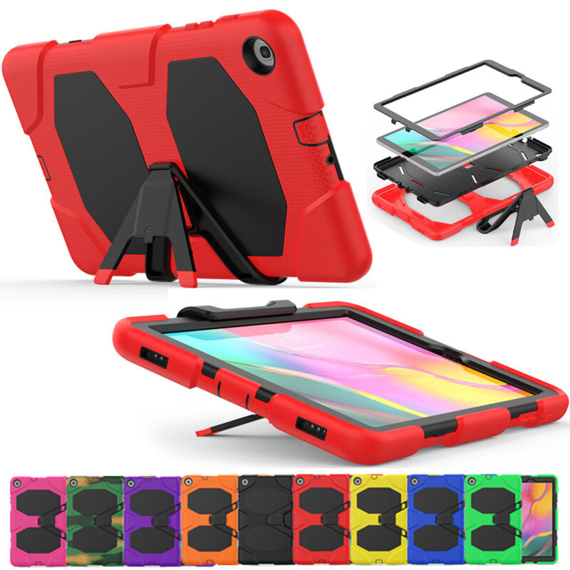 For Samsung Galaxy Tab A 10.1 2019 SM-T510 T515 Armor Case with Screen Protector