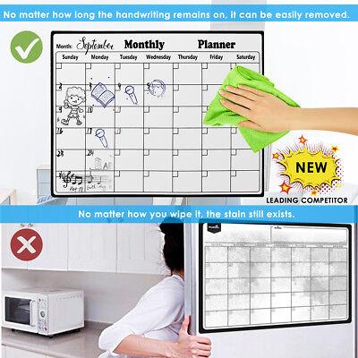 Magnetic Memo Board Calendar For Fridge Dry Erase Board Monthly Plan 2836cm