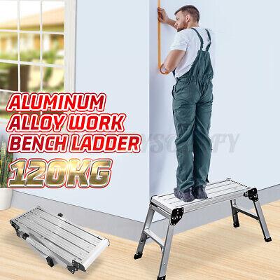 Folding Portable Work Platform Step Stool Car Trailer Camping Working Ladder