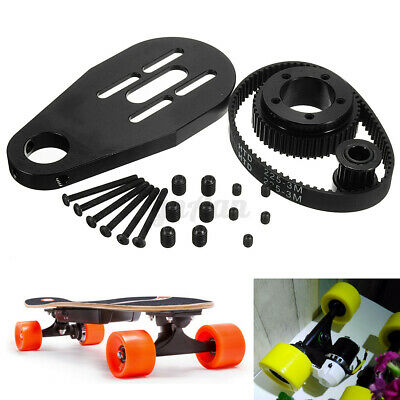 DIY Electric Skateboard Kit Part Pulleys Belt & Motor Mount for 70mm 72mm Wheel