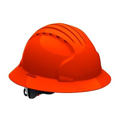 Jsp Hard Hat Full Brim Orange With 6 Point Ratchet Suspension