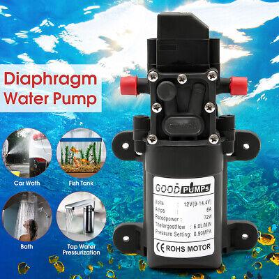 130psi 6lmin Electric High Pressure Water Diaphragm Self Priming Pump 12v 70w