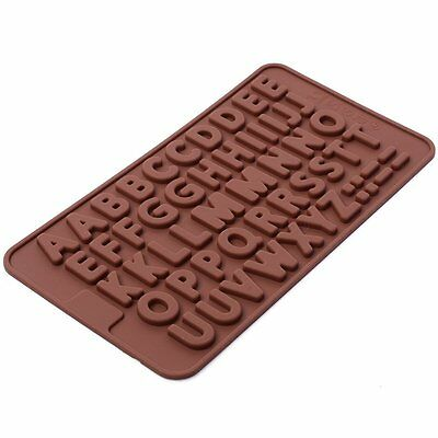 Thin ABC Alphabet Birthday  Silicone mold Candy Chocolate Fondant Tray mould