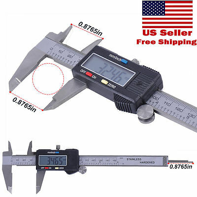 6 Inch 150mm Digital Electronic Lcd Ruler Gauge Caliper Micrometer