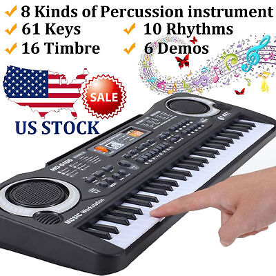 54/61 Keys Digital Music Electronic Keyboard Electric Piano Key Board US Stock X